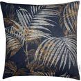 tom tailor sierkussen palmgarden sierkussen met palmbladmotief (1 stuk) zwart