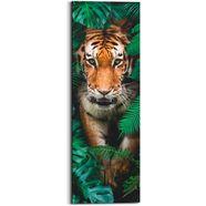 reinders! artprint op hout walking tiger (1 stuk) groen
