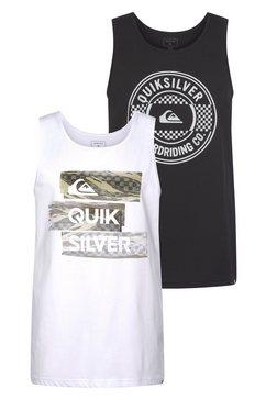 quiksilver tanktop »chilly camo lambok pack« (set van 2) zwart
