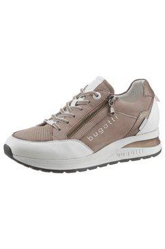 bugatti sneakers met sleehak venice met logo-opschriften bruin