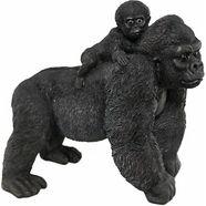 casa collection by jaenig dierfiguur »gorilla mit jungen auf ruecken, breite: 37cm« (1 stuk) zwart