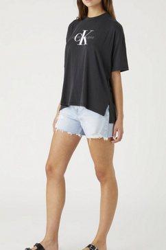 calvin klein shirt met ronde hals monogram modal tee zwart