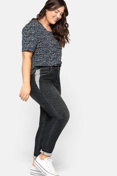 sheego stretch jeans slim fit jeans in extreem elastische kwaliteit zwart