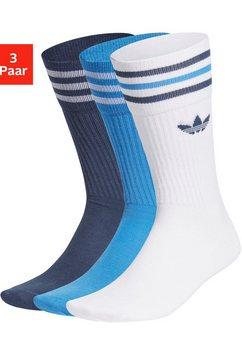 adidas originals tennissokken uniseks (3 paar) blauw