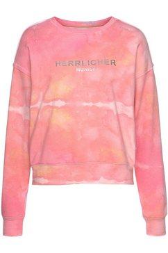 herrlicher sweatshirt carrie in batik-look roze