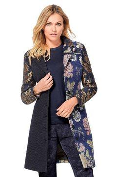 création l lange blazer van jacquard in gobelin-look blauw