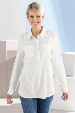 classic basics flanellen blouse wit