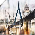 artland artprint hamburg skyline collage iii in vele afmetingen  productsoorten -artprint op linnen, poster, muursticker - wandfolie ook geschikt voor de badkamer (1 stuk) beige