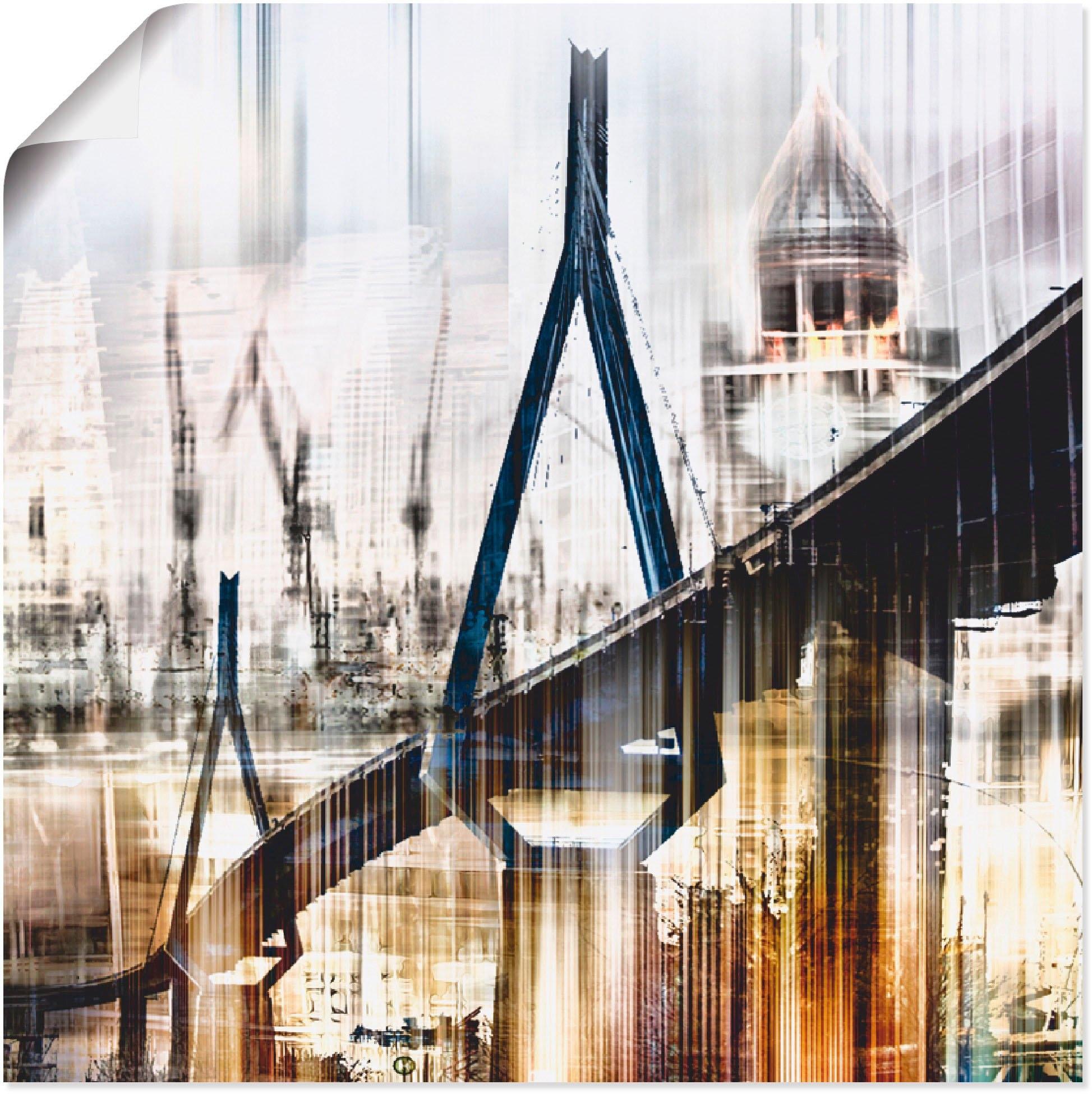 Artland artprint Hamburg Skyline collage III in vele afmetingen & productsoorten -artprint op linnen, poster, muursticker / wandfolie ook geschikt voor de badkamer (1 stuk) nu online bestellen