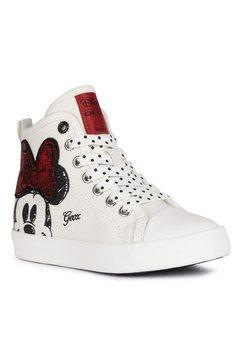geox kids sneakers cik girl met minnie mouse print wit
