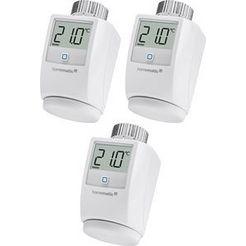 homematic ip »3er set« radiatorthermostaat wit