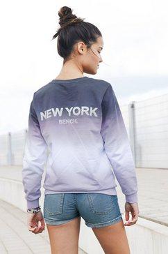 bench. sweatshirt wijd model met grote print op de achterkant blauw