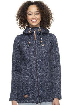 ragwear tricot-fleecejack »rubby« blauw
