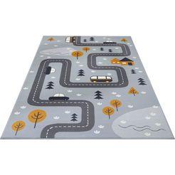 hanse home vloerkleed voor de kinderkamer dream street straat speelkleed grijs