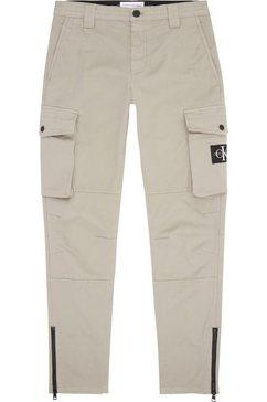 calvin klein cargobroek skinny washed cargo pant beige