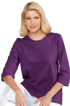 classic basics shirt met 3-4-mouwen paars