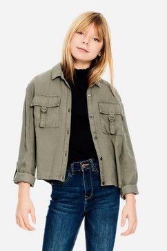 garcia klassieke blouse groen