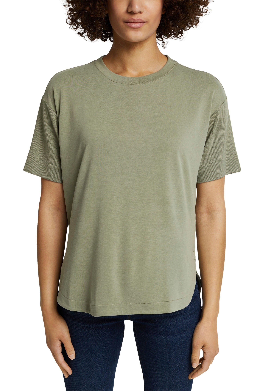 Esprit T-shirt met gebreide details nu online bestellen