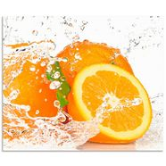 artland keukenwand orange mit spritzwasser (1-delig) oranje