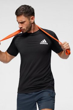 adidas performance t-shirt »m mt t« zwart