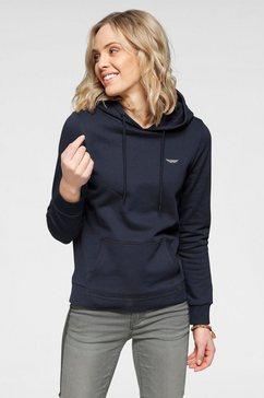 arizona hoodie met logoborduursel blauw
