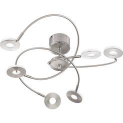 honsel leuchten led-plafondspots dent led-plafondlamp (1 stuk) zilver