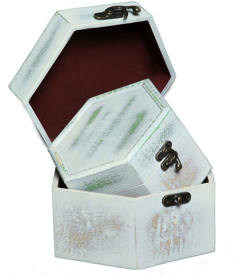 Ambiente Haus opbergbox Zeephout Grijs Houten Flessendoos Set van 2 a (1 stuk) nu online kopen bij OTTO