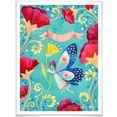 wall-art poster sprookje artprints vlinder poster, artprint, wandposter (1 stuk) multicolor
