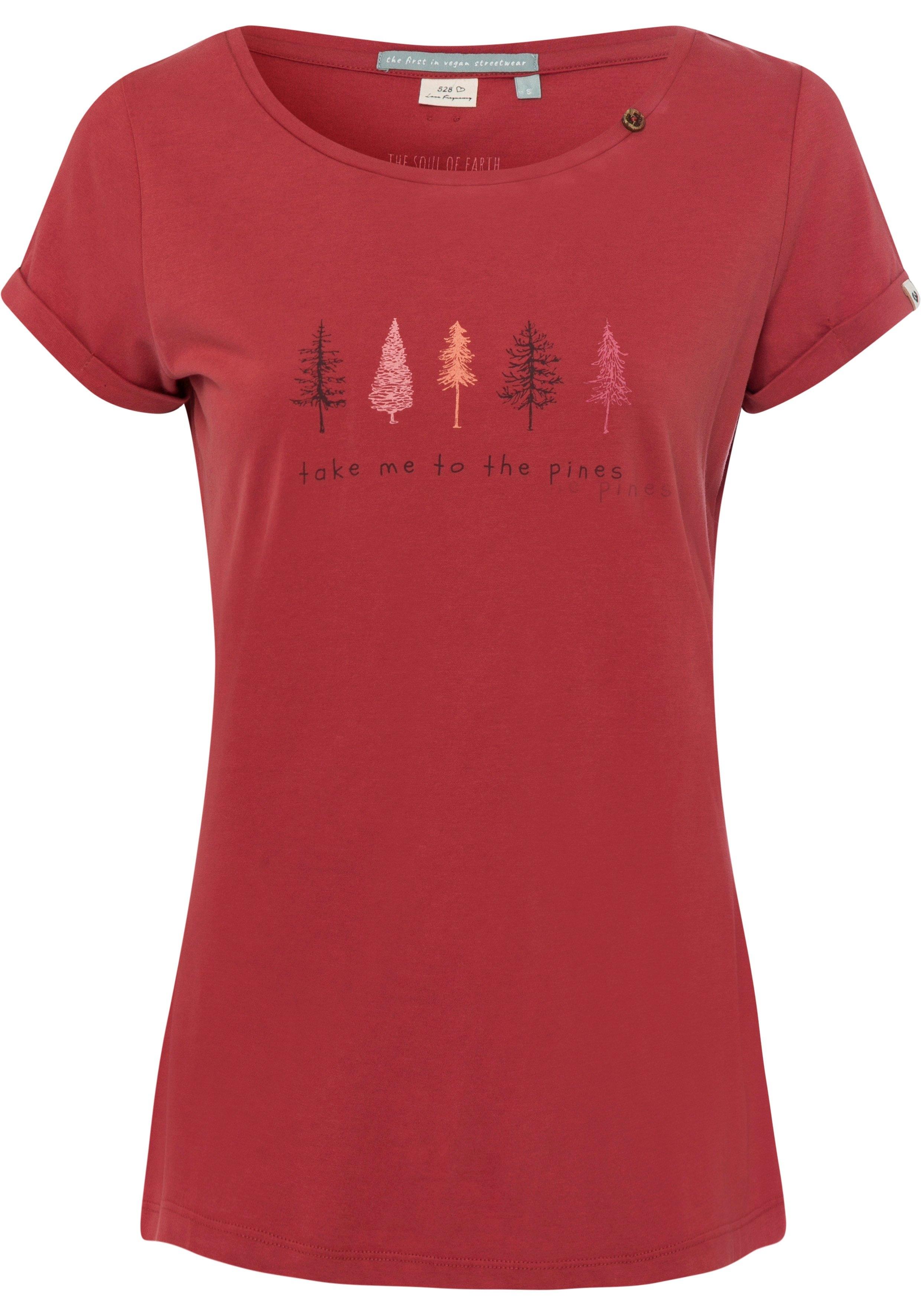 Ragwear T-shirt FLORAH PRINT B ORGANIC met opschrift voordelig en veilig online kopen