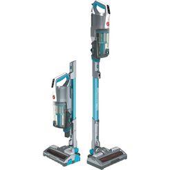 hoover accu-kruimeldief en -stofzuiger h-free 500 hydro, hf522ysp accu-stofzuiger, 2-in-1, zuigen  dweilen, looptijd tot 45 min., zonder stofzak, compact snelladen blauw