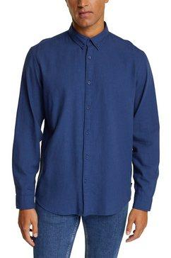 esprit overhemd met lange mouwen blauw