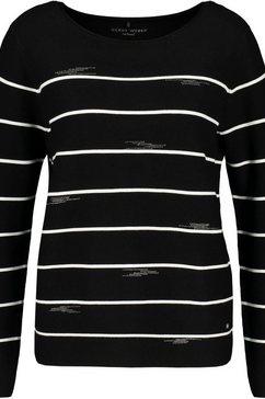 gerry weber gestreepte trui zwart