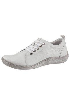 kacper veterschoenen met fijn stempelmotief grijs
