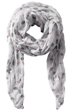 casual looks sjaal met mooi dessin grijs