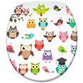sanilo toiletzitting owl met soft-closemechanisme multicolor