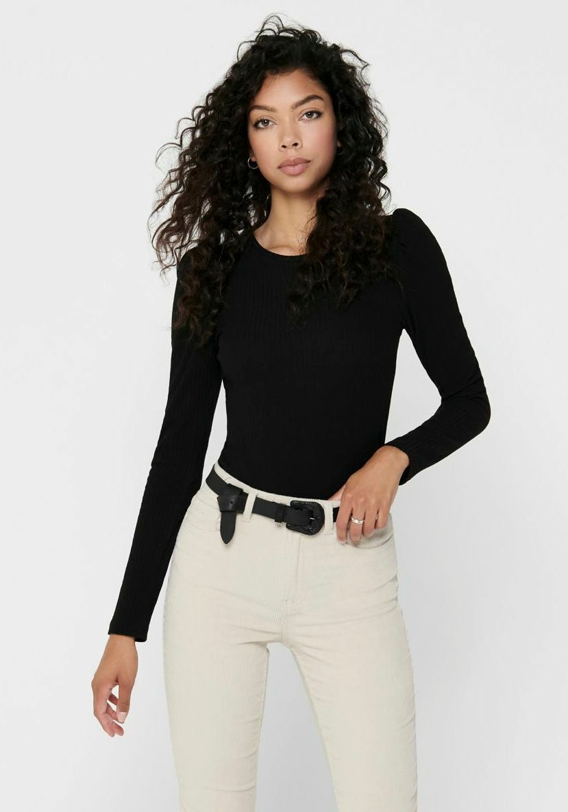 Only shirt met lange mouwen ONLEMMA met geaccentueerde schouders bestellen: 30 dagen bedenktijd