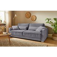 mr. couch bedbank corey 5 jaar fabrieksgarantie op koudschuimvulling, duurzaamheid, exclusieve collectie grijs