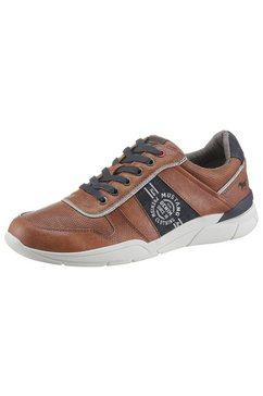 mustang shoes sneakers met een uitneembare binnenzool bruin
