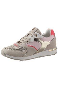 mexx sneakers gemma met mooie metallicdetails beige