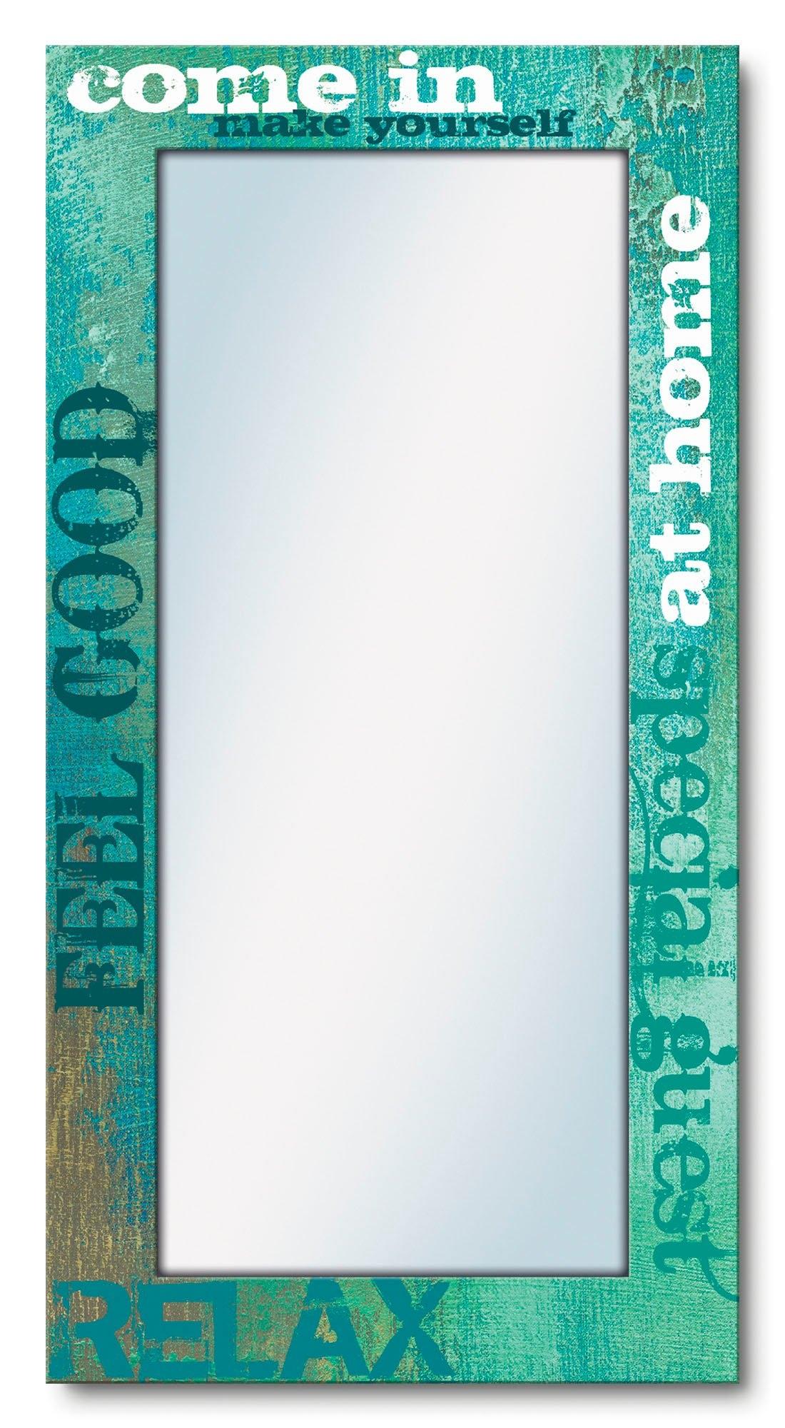 Artland wandspiegel Binnen ingelijste spiegel voor het hele lichaam met motiefrand, geschikt voor kleine, smalle hal, halspiegel, mirror spiegel omrand om op te hangen - gratis ruilen op otto.nl