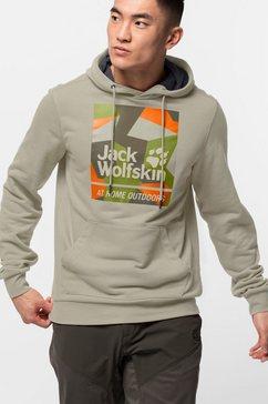 jack wolfskin hoodie »365 hideaway hoody m« beige