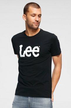 lee t-shirt »wobbly logo tee«