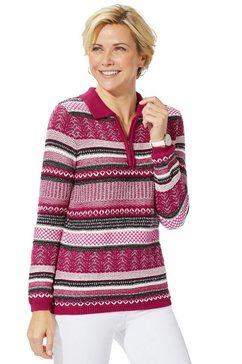 casual looks gebreide trui rood