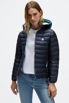 north sails gewatteerde jas van gerecycled polyester blauw