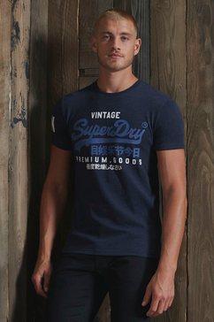 superdry shirt met ronde hals vl ns tee blauw