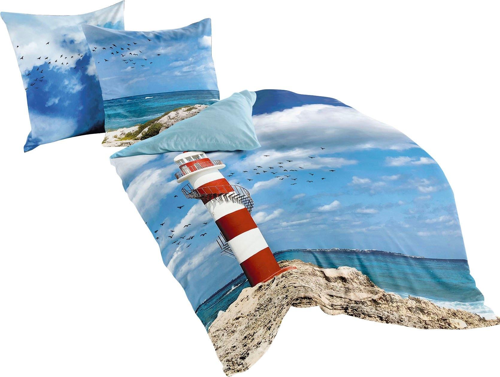 BIERBAUM tweezijdig te gebruiken overtrekset Lighthouse met vuurtoren (2-delig) in de webshop van OTTO kopen