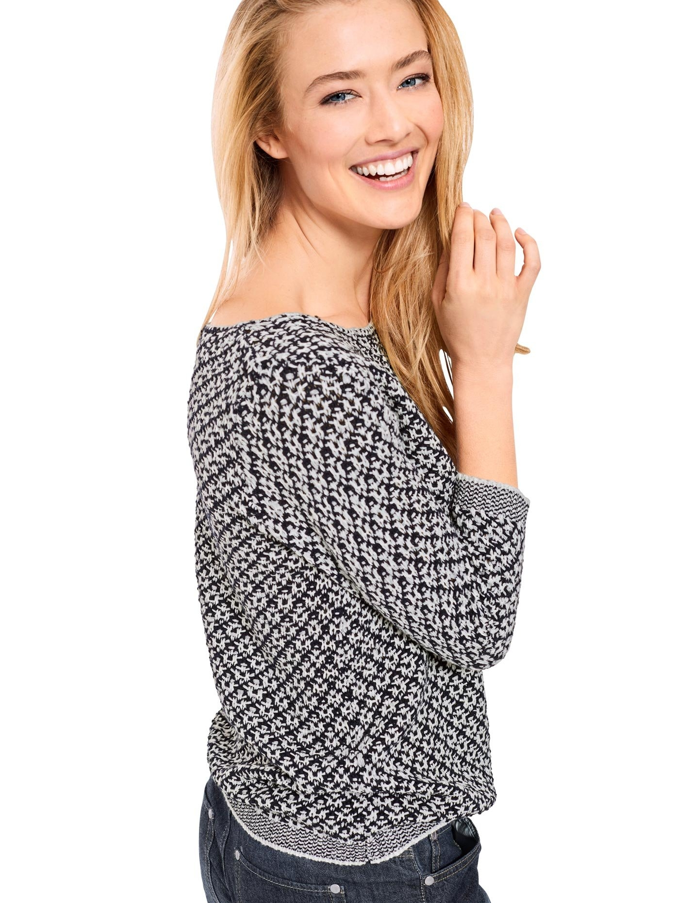 Op zoek naar een LINEA TESINI by Heine trui met ronde hals Jacquard? Koop online bij OTTO