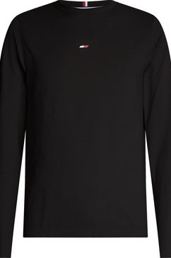 tommy sport shirt met lange mouwen zwart