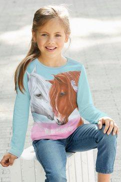 miss melody shirt met lange mouwen voor paardenfans groen