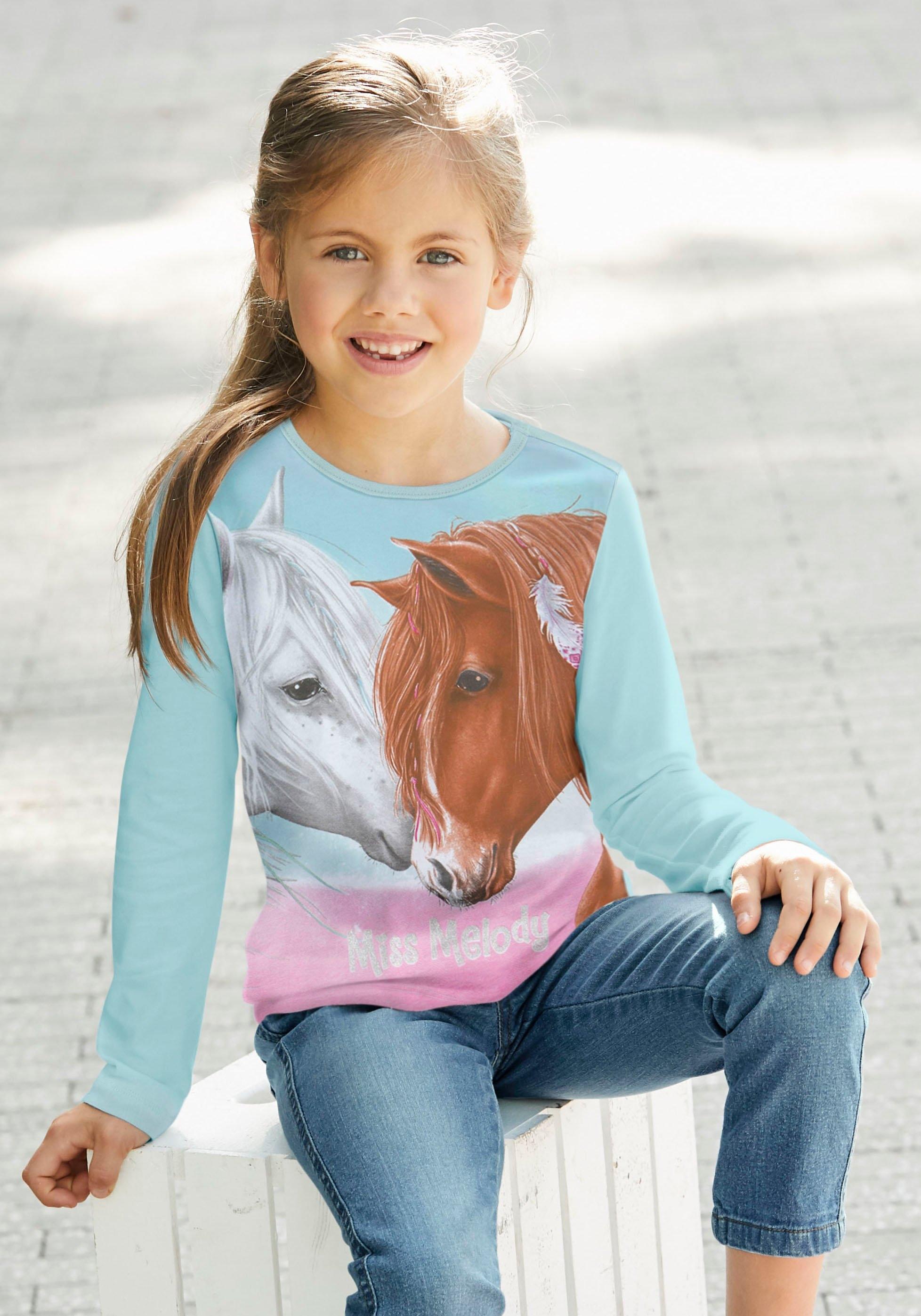 Miss Melody shirt met lange mouwen voor paardenfans - verschillende betaalmethodes
